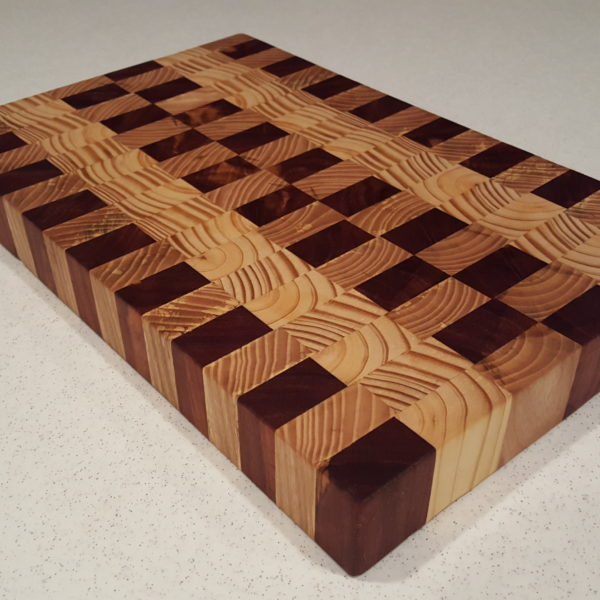 Multi wood end grain cutting board blair wrye designs for Cutting board designs