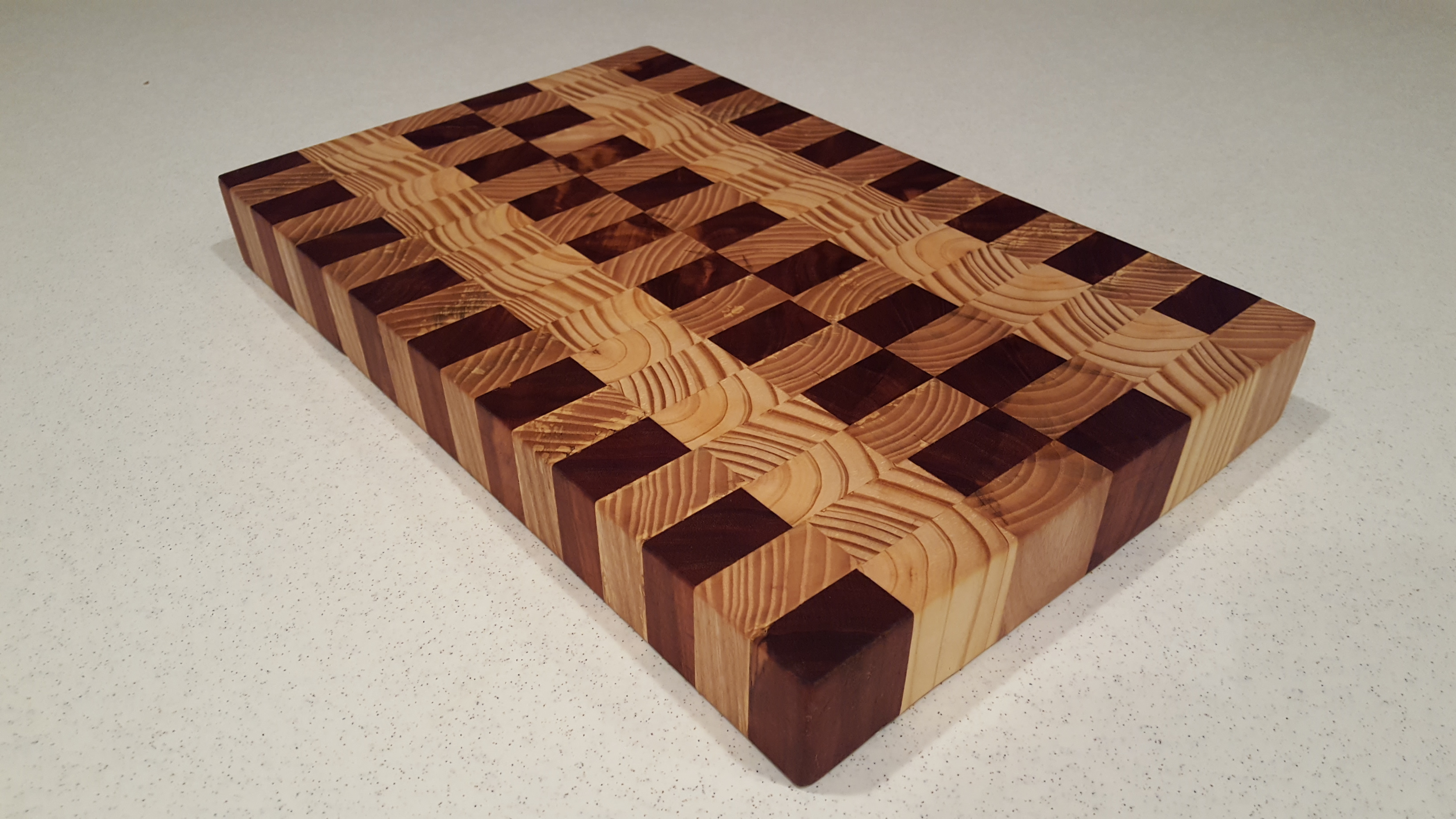 Multi Wood End Grain Cutting Board Blair Wrye Designs